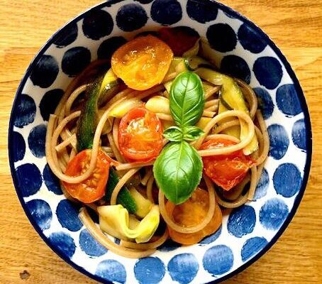 Lemon courgette spaghetti | anti inflammatory recipe | Flarin